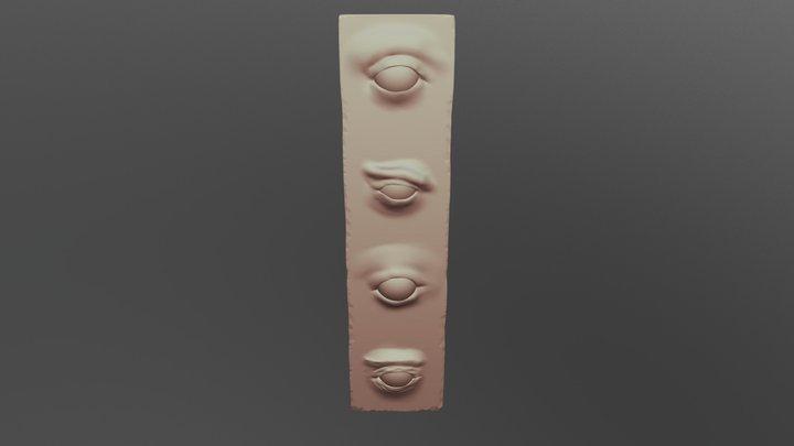 Day 8 Eyes 3D Model