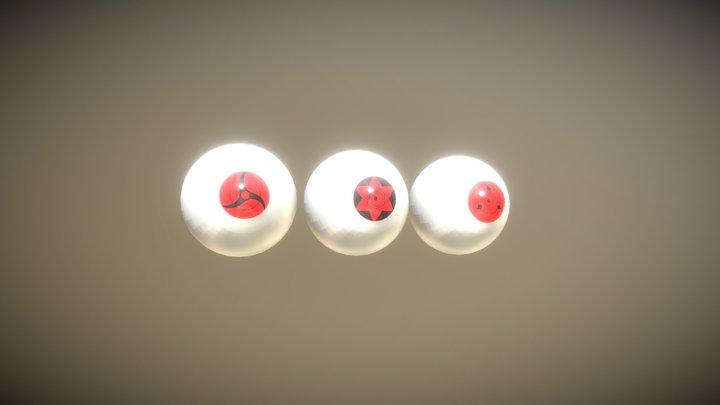 uchiha eyes 3D Model