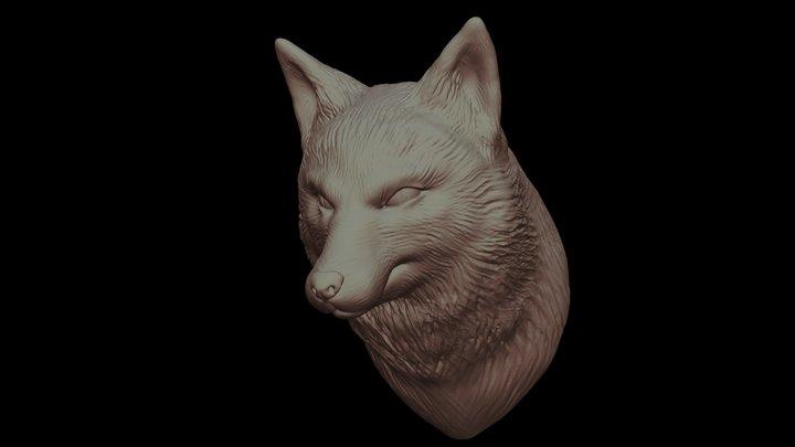 Fox Bust - Details 3D Model
