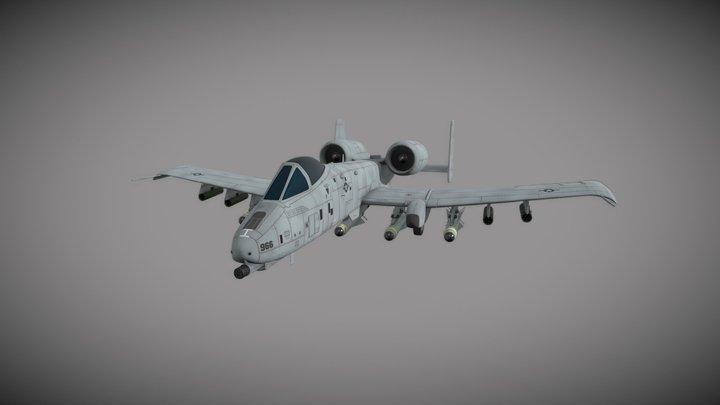 A10 Thunderbolt II 3D Model