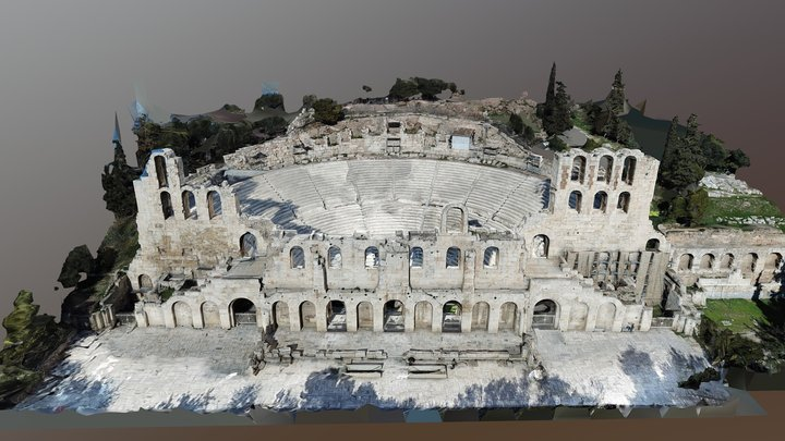 Ancient greek theater Acropolis 3D Model