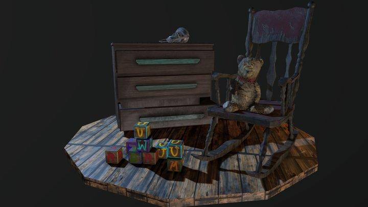 Small Children's Room Environment 3D Model