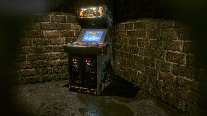 Teenage Mutant Ninja Turtles - TMNT Arcade 1989 3D Model