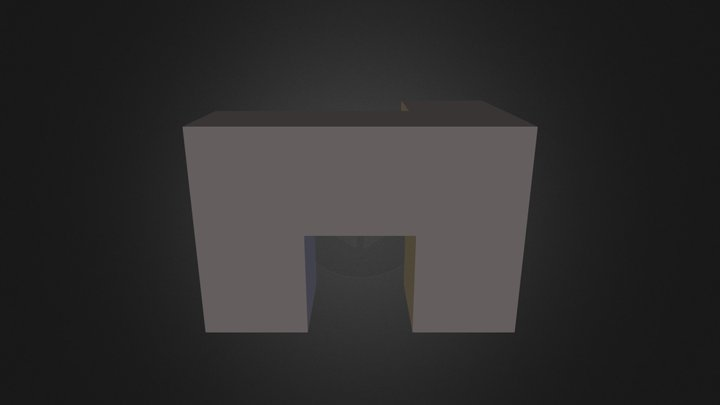 Black cube 3D Model
