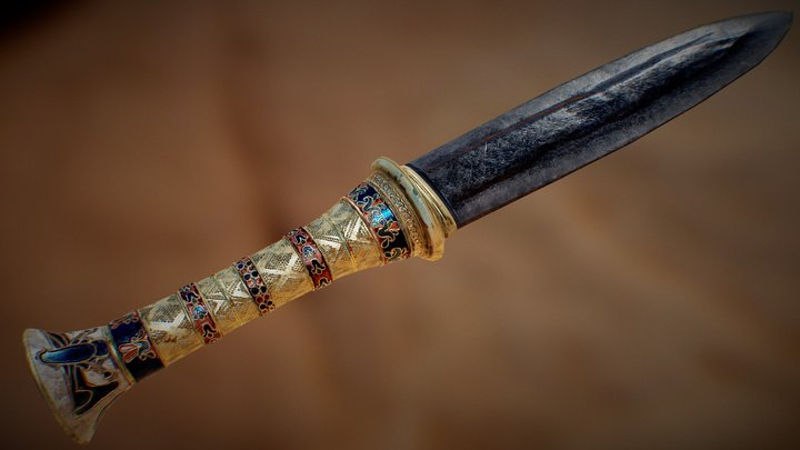 Tutankhamun's Meteoric Dagger 1323 BCE 3D Model