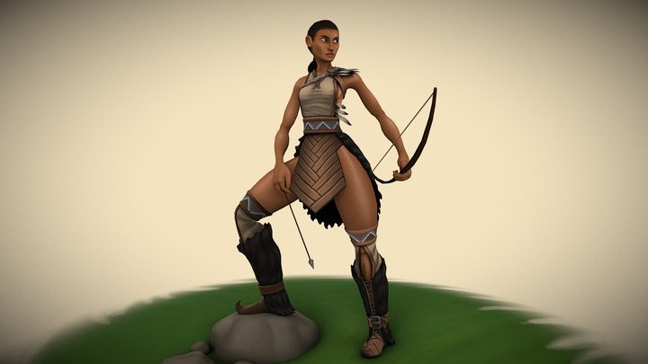 Eira (Leader of the Grove) - Mythical Character 3D Model