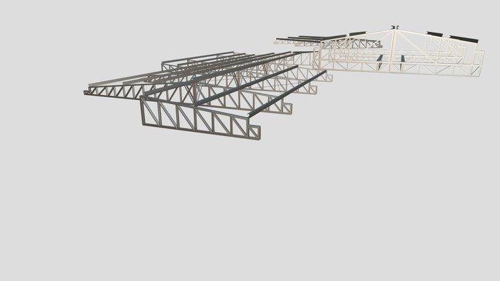 Estrutura Metálica - Bloco de administração 3D Model