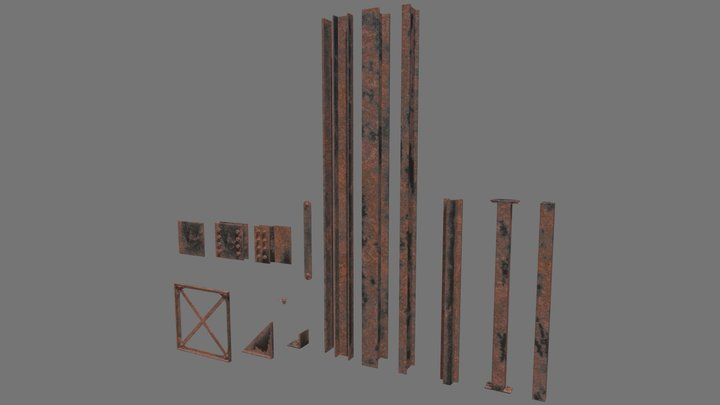 Steel Girder Kit 3D Model
