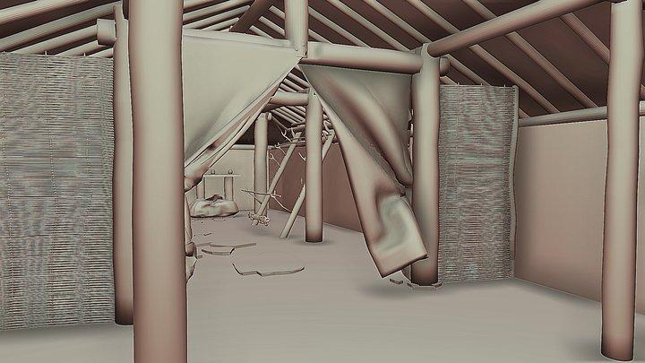 House 40, Sandby borg, Öland, Sweden 3D Model
