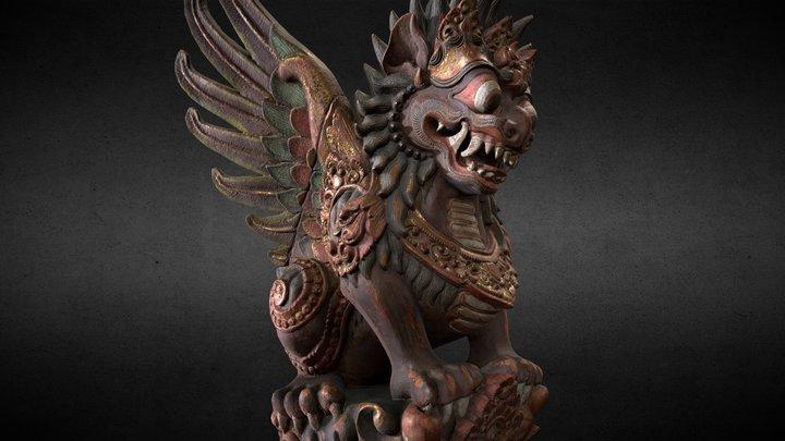 Bali- Statue-020 3D Model