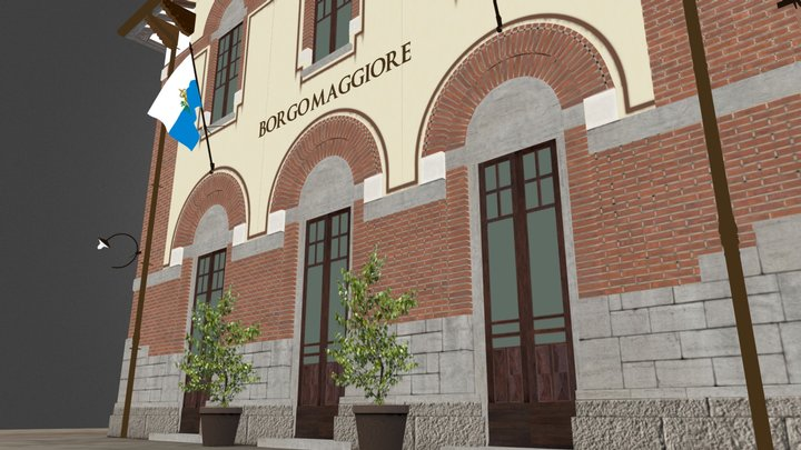 Stazione di Borgo Maggiore 3D Model