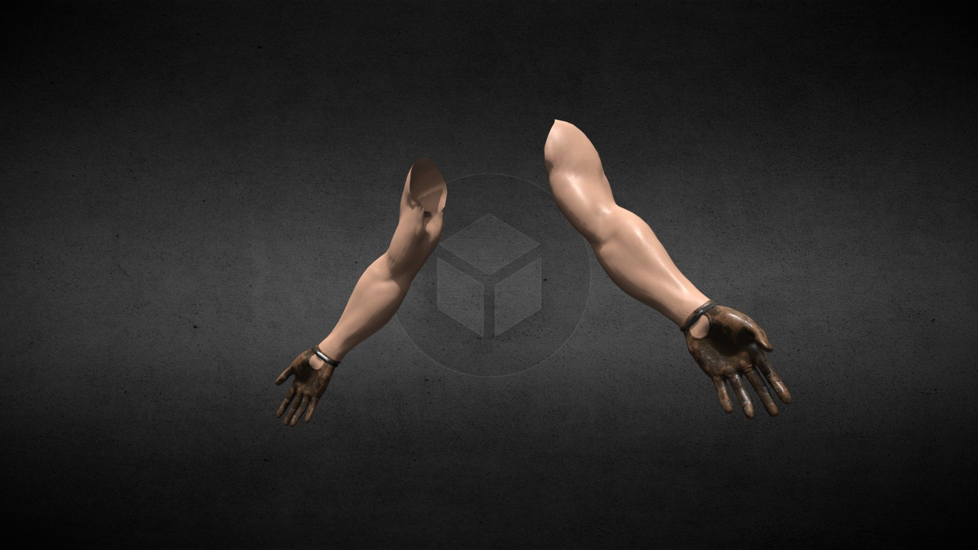 Hands first person view FPS arms - Download Free 3D model