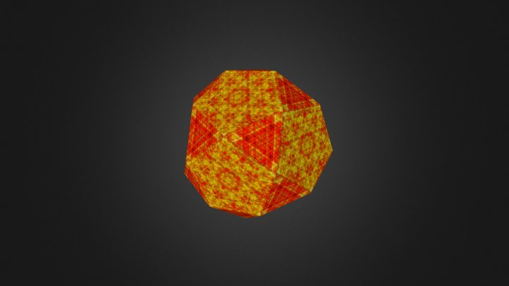 Icosidodecahedron 3D Model