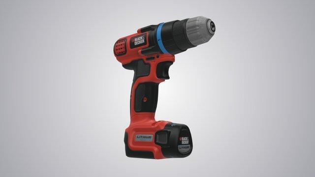 Black and Decker Drill 3D Interactive 3D Model