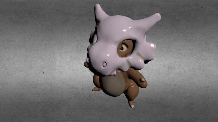 Trying to make a Cubone (Pokemon) 3D Model