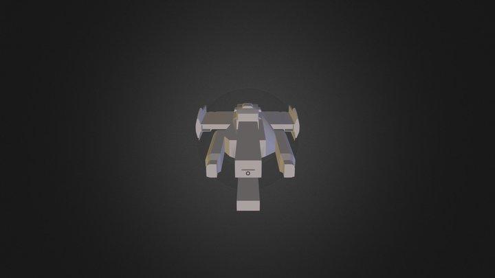 UNSC Frigate 3D Model