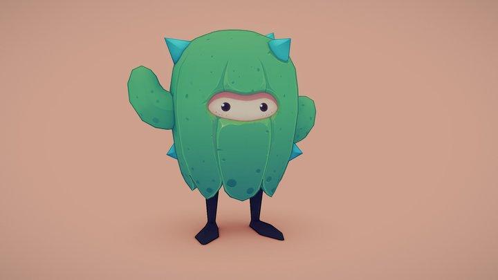 Mr Cactus 3D Model
