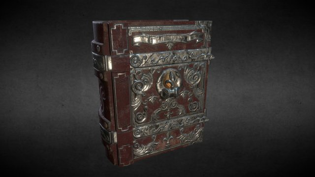 Old Magical Book Cover - game model 3D Model