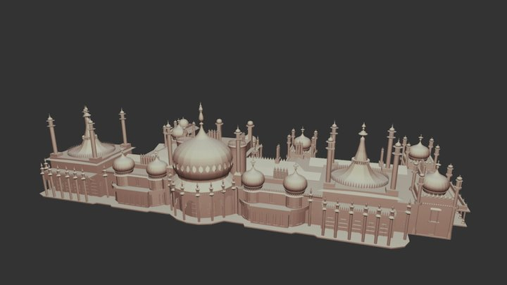 Royal Pavilion, Brighton UK, 2015 3D Model