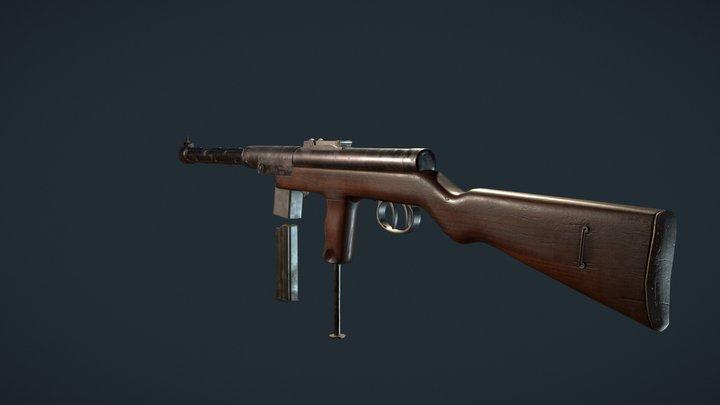 Submachine gun Mors wz39 3D Model