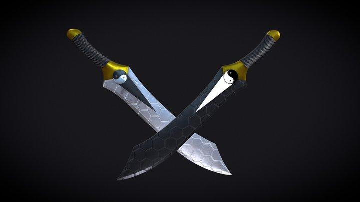 Fate Stay Night Archer Twin Swords 3D Model