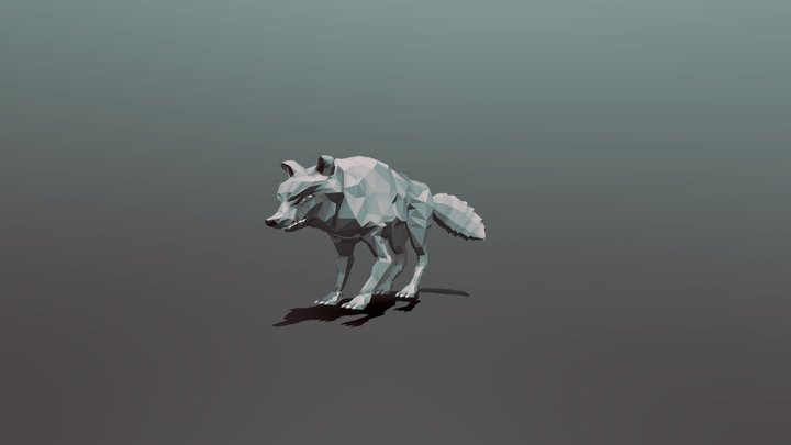 Low Poly Wolf 3D Model