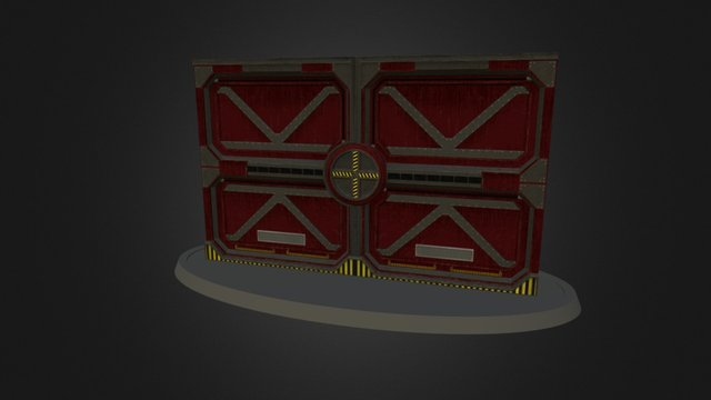Industrial Door 3D Model