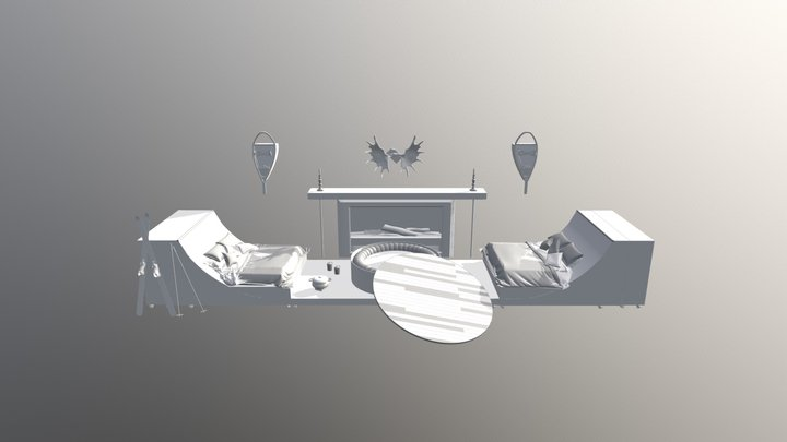 Brojects In The House: Hot Tub Ski Chalet 3D Model