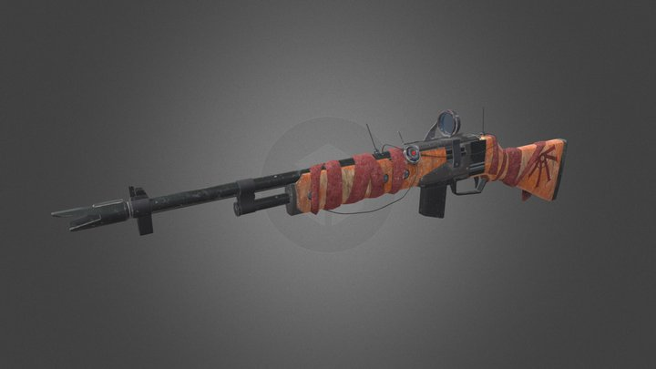 Cult-modified Rifle 3D Model