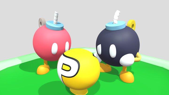 Bob-Ombs finds P-Balloon! 3D Model