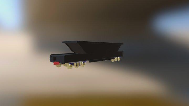 tren de carga 3D Model
