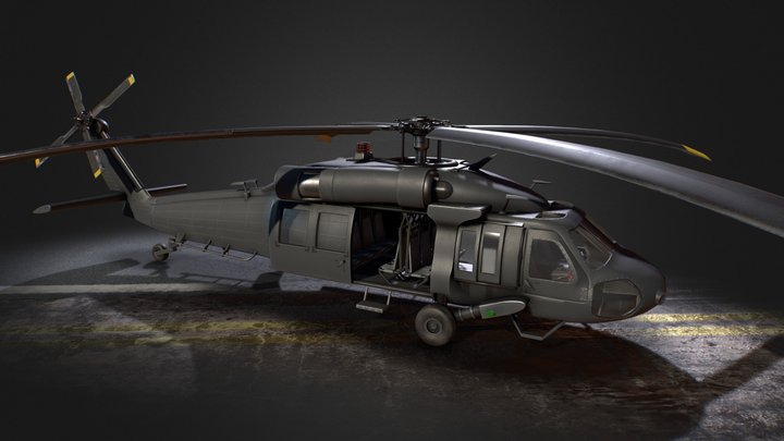 Medium Lift Utility Helicopter 3D Model