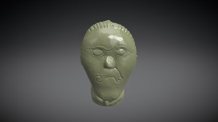 Kamenná hlava z Mšeckých Žehrovic 3D Model
