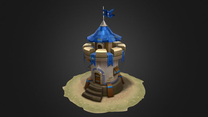 Defense Tower (done on a phone with Spacedraw) 3D Model