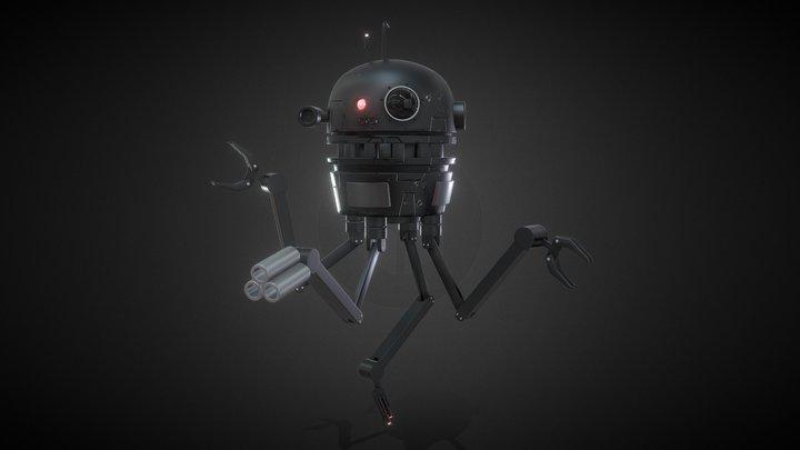 Sci-Fi Robot Drone 3D Model