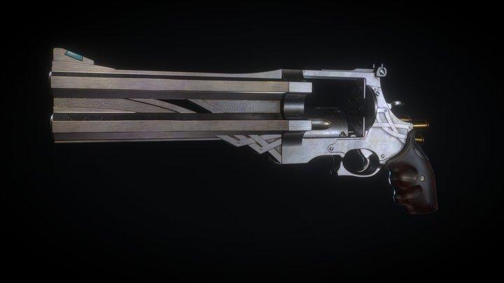 Bule Rose(Nero's revolver). Devil May Cry 5 3D Model