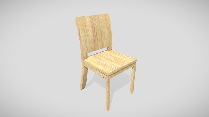 Curved Chair 3D Model