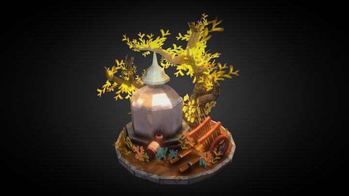 The Stone Pagoda 3D Model