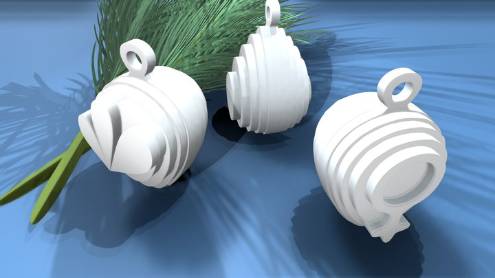 PEARLS on Blue background 3D Model