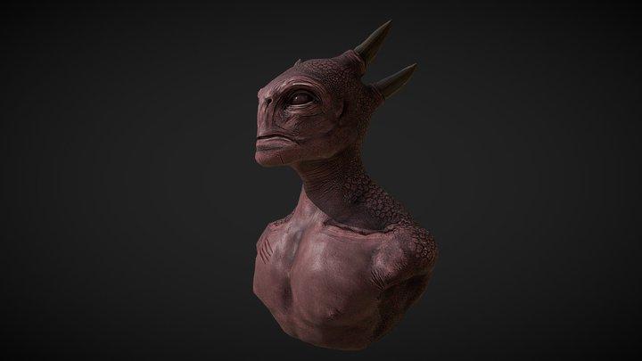 Creature Design Headbust 3D Model