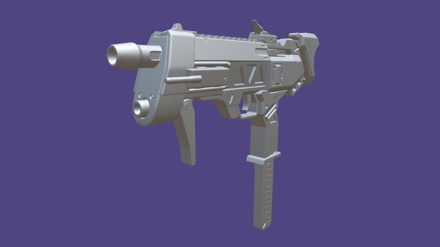 Sombra Machine Pistol - Overwatch 3D Model