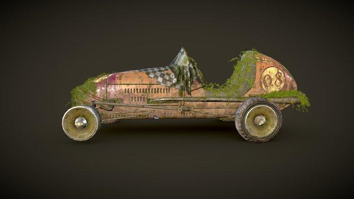 Abandoned racing car 3D Model