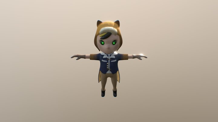 Aviator Boy 3D Model