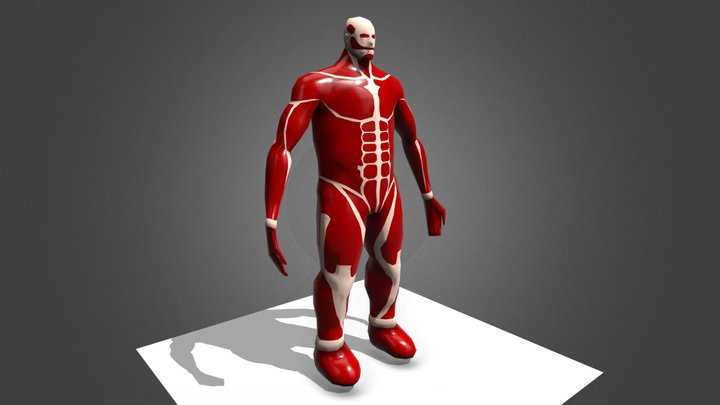 Colossal Titan Lowpoly Colored 3D Model