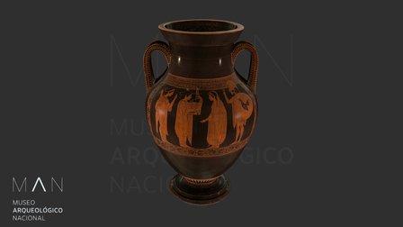 Ánfora bilingüe con Apolo y Dioniso 3D Model