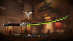 [Fanart] Overwatch - Genji's Sword & Shuriken 3D Model