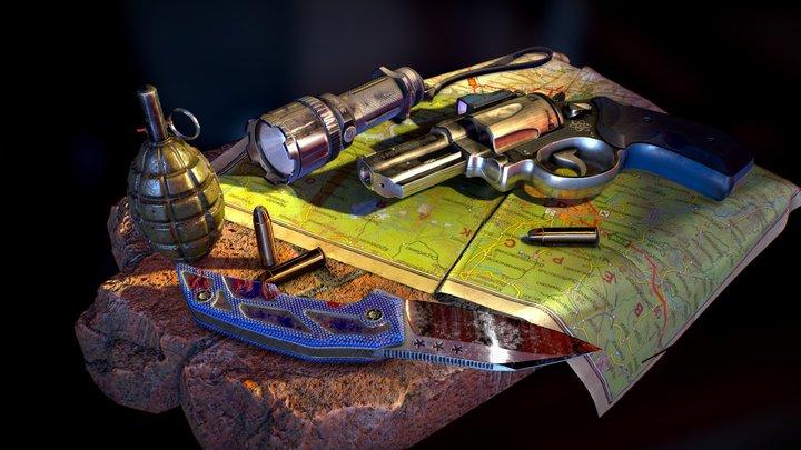 Weapons 3D Model