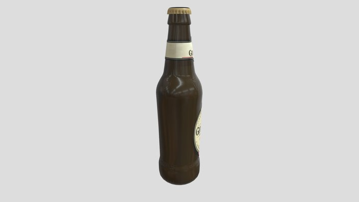 Guinness Bottle 3D Model