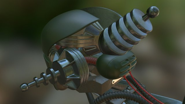 assaultron fallout4 head weapon 3D Model