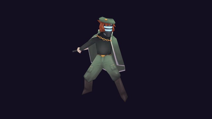 Headhunter - Katana Zero (256fes) 3D Model